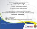Caracterización del Sistema de Control de Armas de Fuego y Municiones en Honduras ::