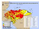 Mapa Oficial 2012 :: Tasas de Homicidio por 100,000 Habitantes Según Municipios - Observatorio de la Violencia